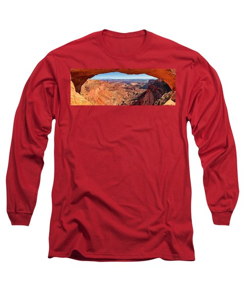 Long Sleeve T-Shirt featuring the photograph Buck Canyon Through Mesa Arch by Andy Crawford