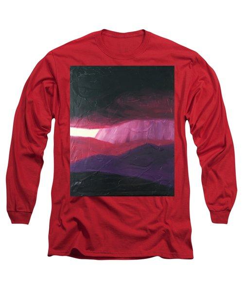 Burgundy Storm On The Horizon Long Sleeve T-Shirt