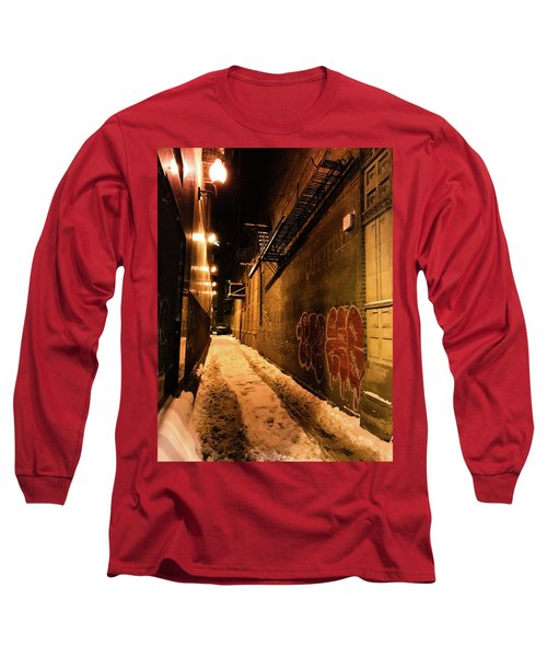 Chicago Alleyway At Night Long Sleeve T-Shirt