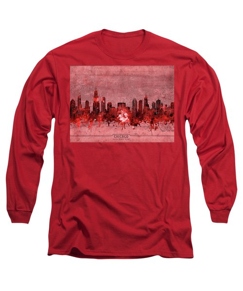 Chicago Skyline Vintage 3 Long Sleeve T-Shirt