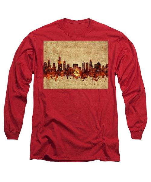Chicago Skyline Vintage Long Sleeve T-Shirt