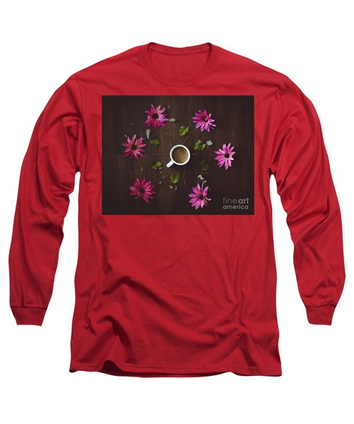 Coffee And Flowers Long Sleeve T-Shirt