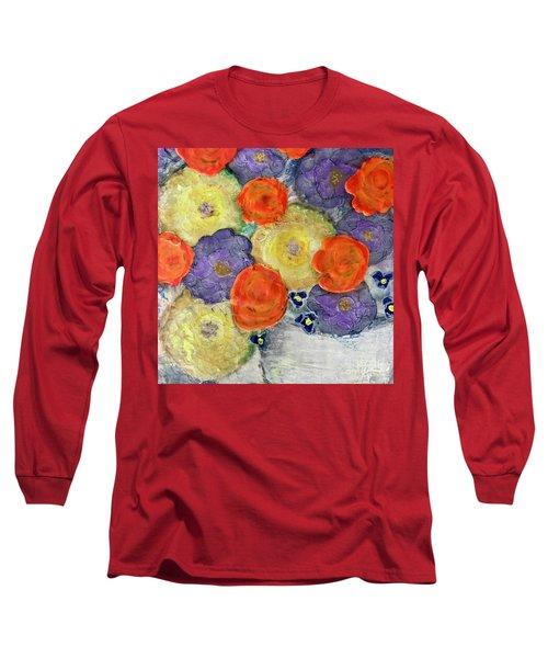 Crochet Bouquet Long Sleeve T-Shirt