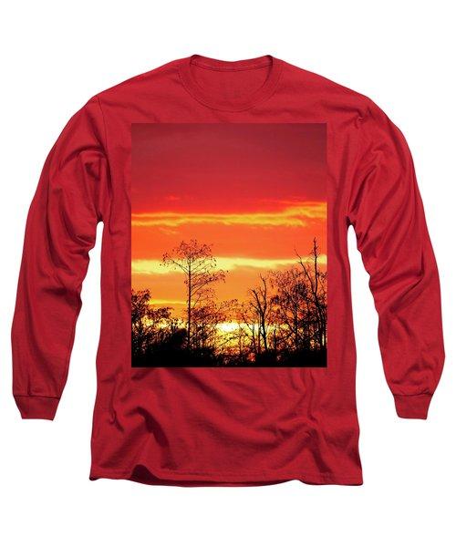 Cypress Swamp Sunset 5 Long Sleeve T-Shirt