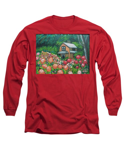 Dahlias In The Woods Long Sleeve T-Shirt