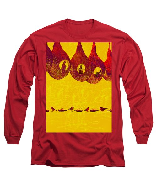 Long Sleeve T-Shirt featuring the digital art Dead Sparrows by Bliss Of Art
