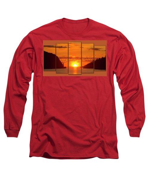 Deception Pass Sunset Panels Long Sleeve T-Shirt