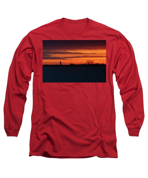 Egmont Key Lighthouse Sunset Long Sleeve T-Shirt