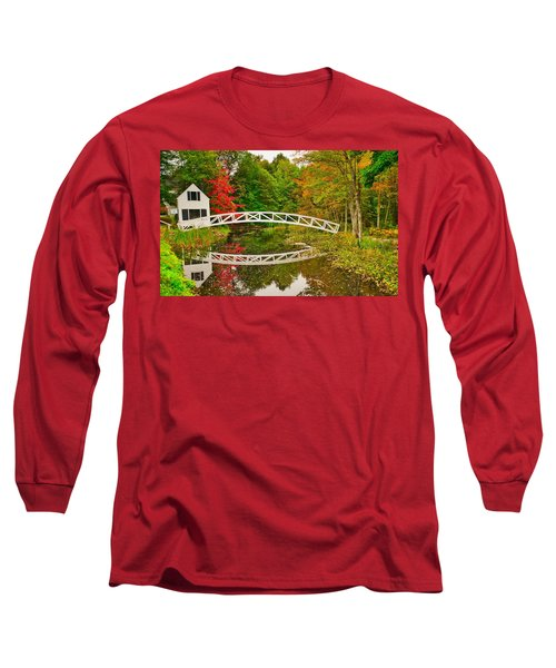 Fall Footbridge Reflection Long Sleeve T-Shirt