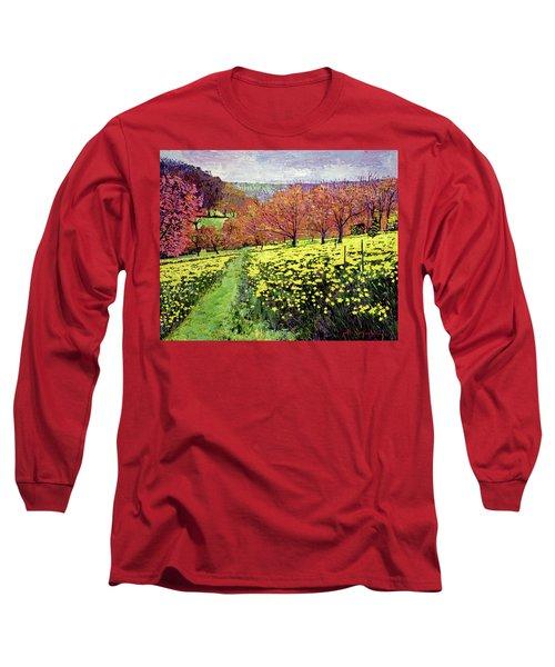 Fields Of Golden Daffodils Long Sleeve T-Shirt