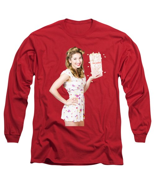 Film And Cinema Pin-up Lady Long Sleeve T-Shirt