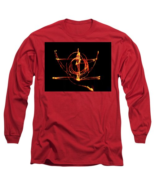 Fire Light Drawing Long Sleeve T-Shirt