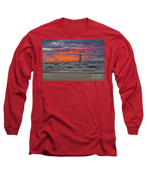 First Day Of Fall Sunset Long Sleeve T-Shirt