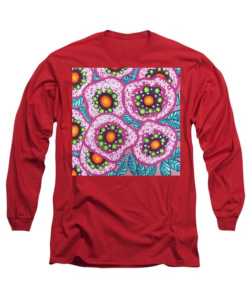Floral Whimsy 10 Long Sleeve T-Shirt