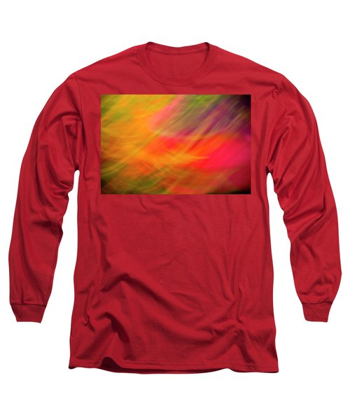 Flowers In Abstract Long Sleeve T-Shirt