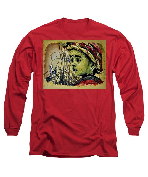 Long Sleeve T-Shirt featuring the painting Fly With Me by Bliss Of Art