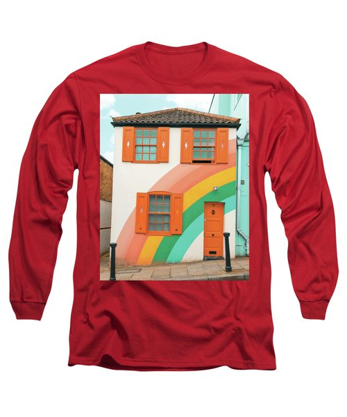 Funky Rainbow House Long Sleeve T-Shirt