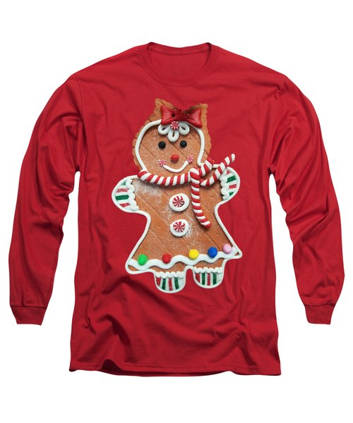 Long Sleeve T-Shirt featuring the photograph Gingerbread Cookie Girl by Rachel Hannah