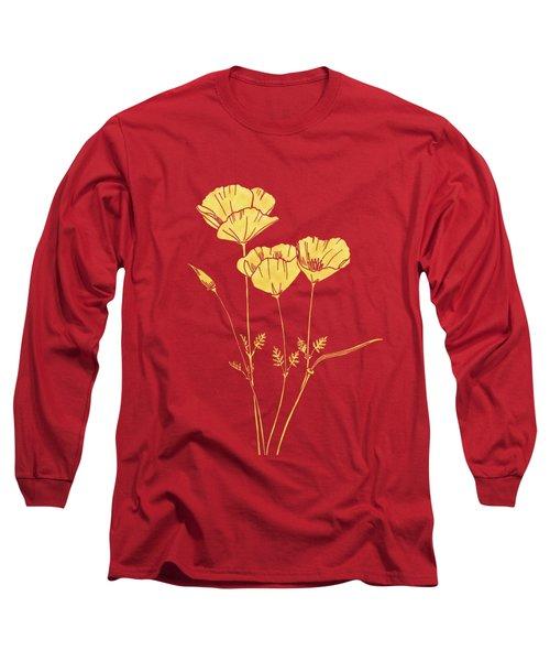 Golden California Poppy Long Sleeve T-Shirt