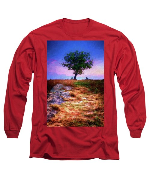 Golden Grasses Of Autumn Ap Long Sleeve T-Shirt