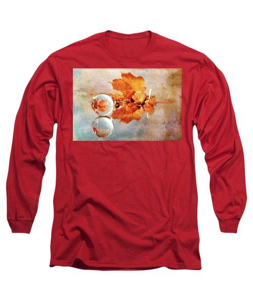 Long Sleeve T-Shirt featuring the photograph Golden Tones Of Fall by Randi Grace Nilsberg