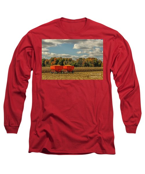 Grain Wagons Loaded With Maize Long Sleeve T-Shirt
