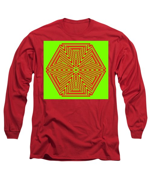 Green And Red Fusion  Long Sleeve T-Shirt