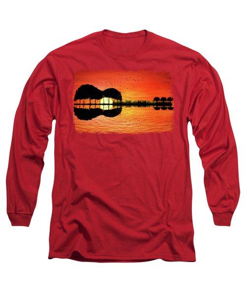 Guitar Island Sunset Long Sleeve T-Shirt