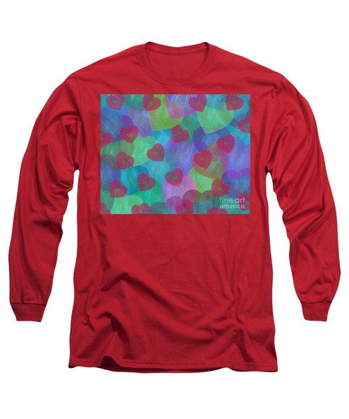 Hearts Aflame Long Sleeve T-Shirt