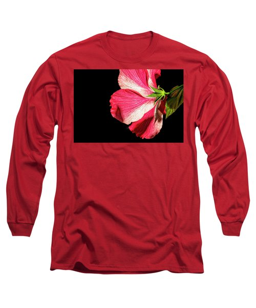 Hibiscus In Shadow Long Sleeve T-Shirt