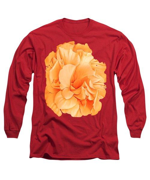 Hibiscus Rosa Double Petaled Yellow Long Sleeve T-Shirt