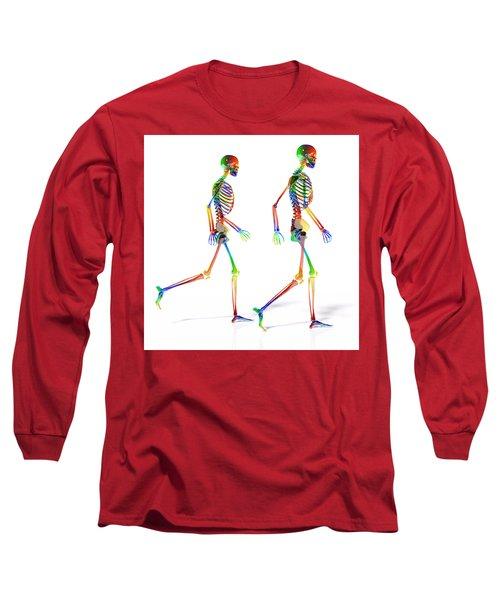Human Skeleton Pair Long Sleeve T-Shirt