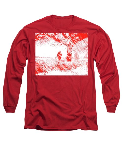Icy Shards Fall On Setttled Snow Long Sleeve T-Shirt