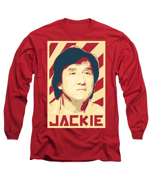 Jackie Chan Retro Propaganda Long Sleeve T-Shirt