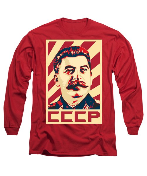 Joseph Stalin Retro Propaganda Long Sleeve T-Shirt