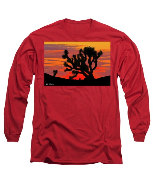 Joshua Tree At Sunset Long Sleeve T-Shirt