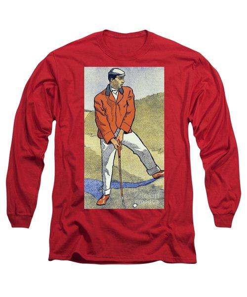 June, July, Detail From 1931 Golfing Calendar Long Sleeve T-Shirt