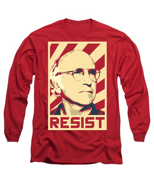 Larry David Resist Long Sleeve T-Shirt