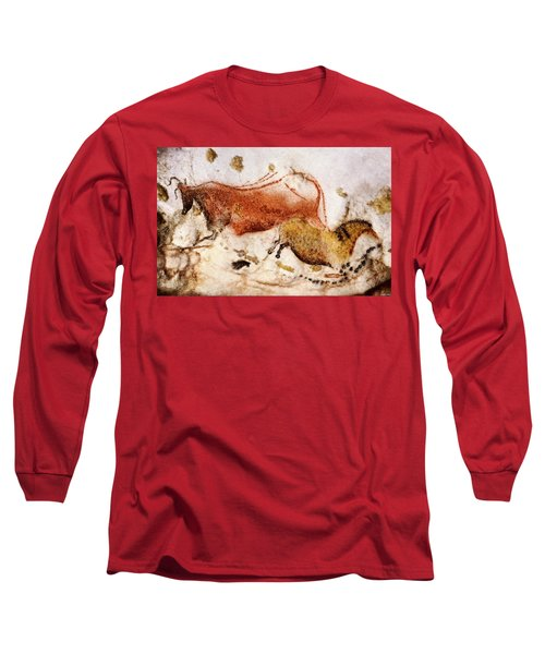 Lascaux Cow And Horse Long Sleeve T-Shirt