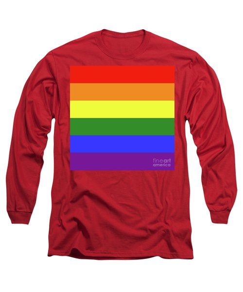 Lgbt 6 Color Rainbow Flag Long Sleeve T-Shirt