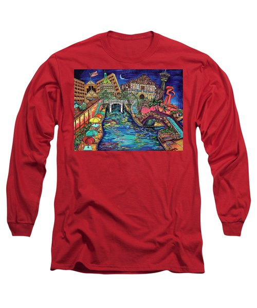 Lights On The Banks Of The River Long Sleeve T-Shirt