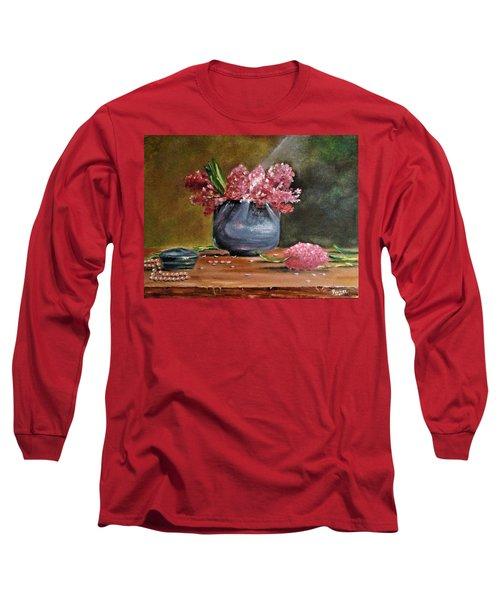 Lilacs And Pearls Long Sleeve T-Shirt