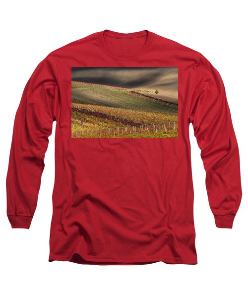 Line And Wine 1 Long Sleeve T-Shirt