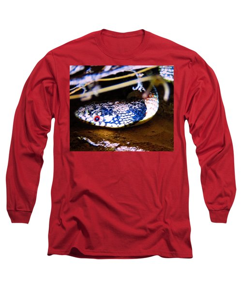 Long Sleeve T-Shirt featuring the photograph Longnosed Snake Portrait by Judy Kennedy