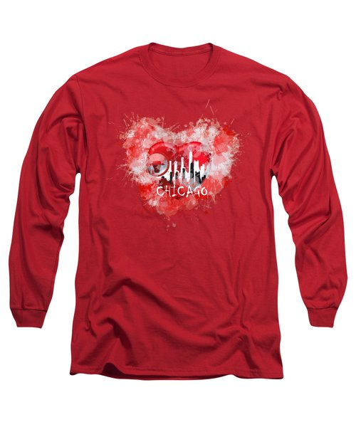 Love Chicago Colors Long Sleeve T-Shirt