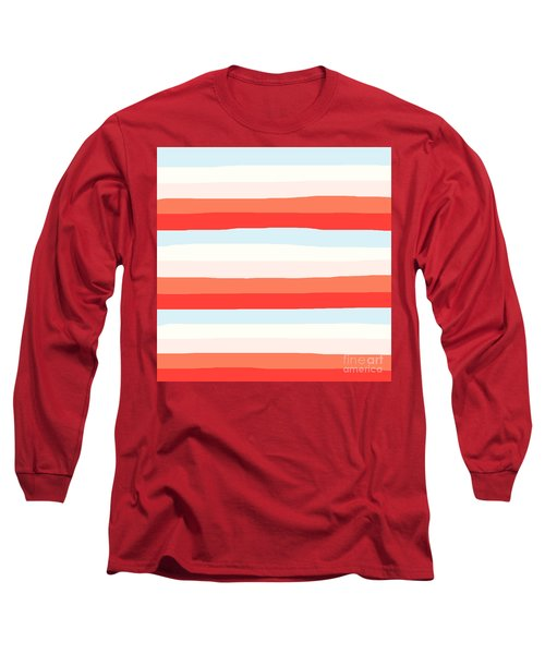 lumpy or bumpy lines abstract and colorful - QAB268 Long Sleeve T-Shirt