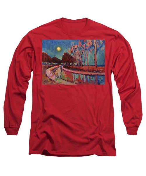 Moon Night At The Canal Long Sleeve T-Shirt