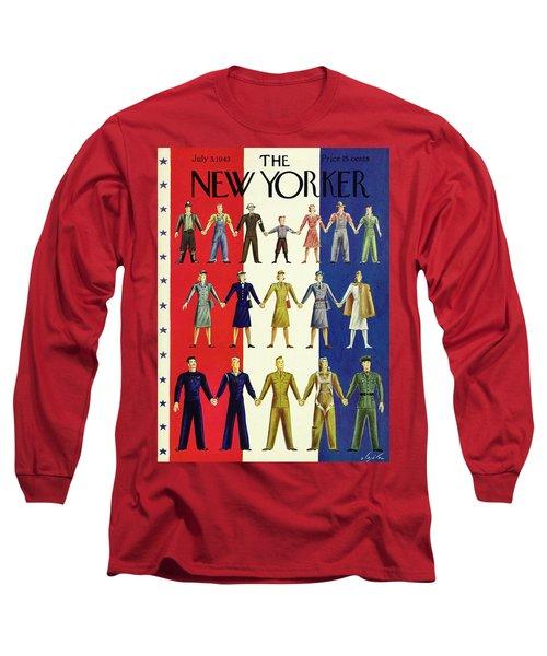 New Yorker July 3rd 1943 Long Sleeve T-Shirt