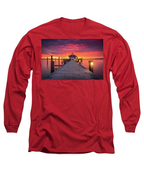 North Carolina Outer Banks Manteo Lighthouse Obx Nc Long Sleeve T-Shirt