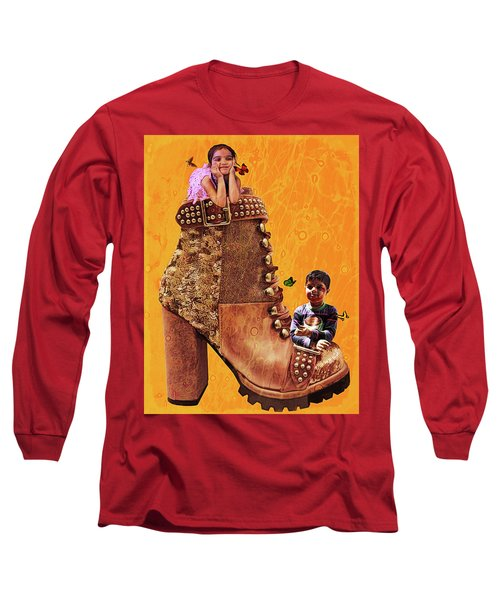 Long Sleeve T-Shirt featuring the digital art On My Heels by Bliss Of Art